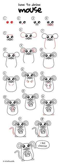 How To Draw Mouse Easy Drawing Step By Perfect For Kids