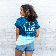 Our favorite ombre tee in a new color! Super soft and a comfortable fit makes this the perfect tee for Summer.  100% Cotton Custom dyed and screen printedin