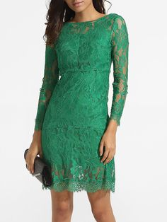 Backless Boat Neck Lace Hollow Out Plain Bodycon-dress #BodyconDresses, #Dresses, #Fashion, #Womens