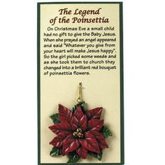 Legend Of The Poinsettia Ornaments Christmas