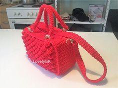 Crochet Women Handbag Shoulderbag Bags&Purses Red Color Polyester Yarn