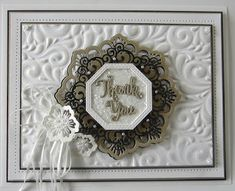 PartiCraft (Participate In Craft): Thank You Sue Wilson Dies, Paper Crafts, Diy Crafts, Embossing Folder, Thank You Cards, Projects To Try, Card Making, Greeting Cards, Frame