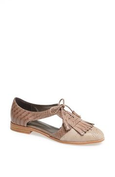 Jeffrey Campbell 'Kelley' Oxford available at #Nordstrom Love these with the new Brett Jeans for spring. #CAbiClothing