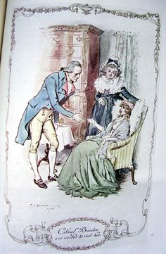 """SS. """"Colonel Brandon was invited to visit her."""" CE Brock illustration 