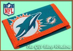 Miami Dolphins Wallet Official Nfl Tri Fold Nylon Coin Purse New Uk Stock Ebay