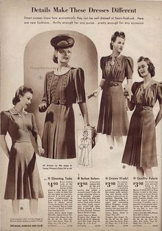 Fall & Winter 1940-41 Sears, Roebuck & Co.   VintageStitches.com