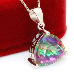 4ct Genuine Nature Rainbow Fire Mystic Topaz Pendant,Oh YeahVisit us
