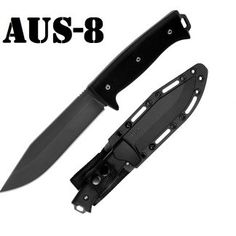Survival Knife Black Finish designed by Survival Lilly Survival Knife, Survival Gear, Bushcraft Knives, Stainless Steel Screws, Black Oxide, Tool Steel, Good Grips, Satin Finish, Black Nylons