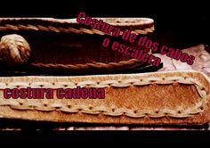"""Costura Porteña o Escalera y Costura Cadena """"El Rincón del Soguero"""""""