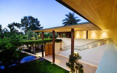 Architects Modernize Traditional Courtyard with Above-Ground Moat and Rooftop Gardens - My Modern Met
