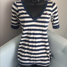 Hollister stripes top Hollister stripes top 3/4 sleeve size XS Hollister Tops