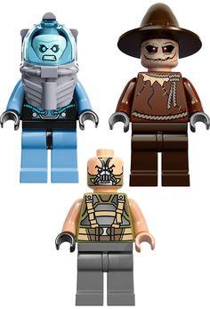 DC-Comics-LEGO: Mr. Freeze, Scarecrow, & Bane