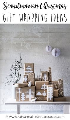 Today I'm going to share with you 6 of my favorite DIY Scandinavian Christmas gift wrapping ideas. I love the simplicity and minimalism of Scandinavian culture, and the handmade nature of this project is very appealing to me. #christmas #christmasgifts #christmasdecor #gifts #giftwrapping #diy #scandi #scandinavianchristmas #holidays #holidaydecor #minimal #minimalist #decoration #nordic #nordichome #nordicinspiration #nordicdesign