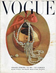 Vintage Paris Vogue cover, December 1949
