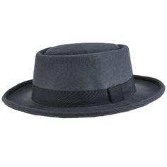chapeau pork pie rglable stacy gris