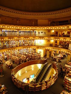 El Ateneo, a bookstore that used to be a theatre in Buenos Aires. Holy moly.