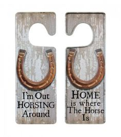 Home Is Where The Horse Is Door Hanger Sign