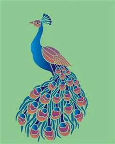 Large Peacock Stencil - Bing Images