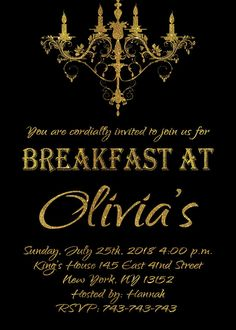 Pin by nawazish ali on nawazishali pinterest invitations breakfast at tiffanys invitationprintable editable bridal shower baby shower engagementparty ba friedricerecipe Images