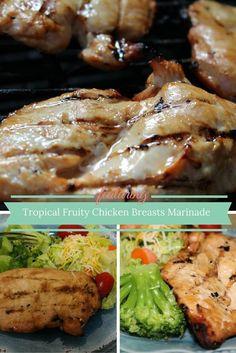 Tropical Fruity Chicken Breasts Marinade Recipe   Trisha Dishes   Easy Dinner Recipe   Easy Main Dish Recipe   Grilled Chicken   Chicken Marinade   On the grill