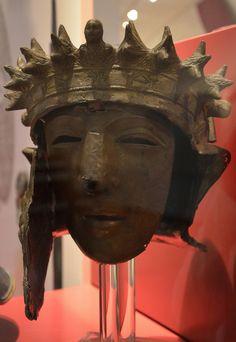 Cavalry Face-Mask Helmet (Type Kalkriese) bearing the name of the owner: VANNIVS, from Noviomagus, 2nd-3rd century AD, Rijksmuseum van Oudheden, Leiden © Carole Raddato