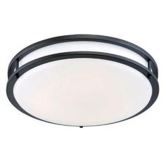 Hampton Bay In OilRubbed Bronze Integrated LED Flushmount With - Low profile kitchen ceiling lights
