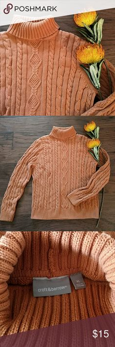 Croft & Barrow chunky orange sweater Perfect for cool fall nights and cold winter evenings.  Very slight pillage from normal wear.  No other flaws.l croft & barrow Sweaters Cowl & Turtlenecks