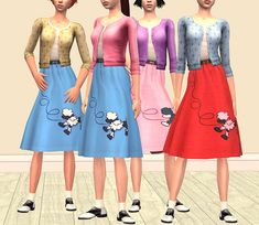 Mod The Sims - - Billie Jean - Poodle skirts for the teen girl
