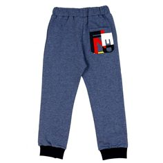 Boys Blue Joggers with Red Drawstring and Printed Pocket. Available now at www.chocolateclothing.co.uk