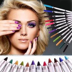 12 Colors Cosmetic Make Up Eye Liner Eyeliner Eyeshadow Pen Pencil Face Makeup #Unbranded