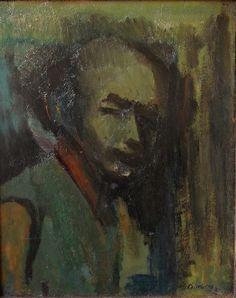 David Bomberg: Self Portrait with Green Jacket