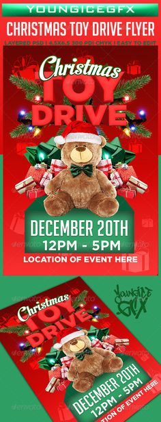 FlyerTutor Christmas Toy Drive Flyer Template I want to do - free holiday flyer templates word