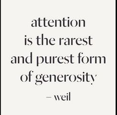 #Attention for generosity.