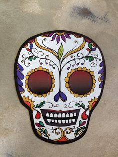 Fleurty Girl - Everything New Orleans - Sugar Skull Car Magnet - Car Accessories - For the Home