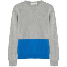 Richard Nicoll Color-block cashmere sweater ($551) via Polyvore