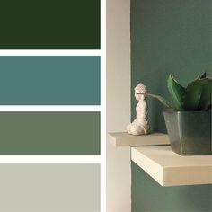 ASSOCIER DU VERT Palette Verte, Exterior Design, Interior And Exterior, Colour Pallete, Blue Rooms, Color Swatches, Home Staging, Home Deco, Sweet Home