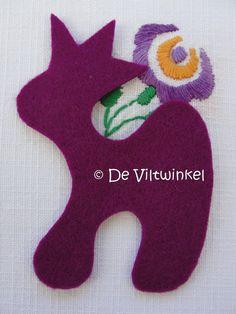 Wolvilt Paarsrood 20 bij 30 cm | www.deviltwinkel.nl
