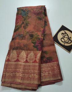 Order latest Organza kanchi border with blouse online 8897195985 Kanchi Organza Sarees, Handloom Saree, Silk Sarees, Trendy Sarees, Fancy Sarees, Indian Wedding Lehenga, Saree Blouse Neck Designs, Siri, Blouse Online