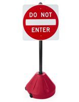This portable Do Not Enter sign is perfect for conventions!