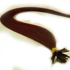 """25 Strands Straight Micro Ring Links Locks Beads Keratin Stick I Tip Human Hair Extensions Color #Dark Red by Human Hair Extension. $30.99. Quantity: 25 Strands (0.75g each strand). Texture & Length : Straight 22"""" inches long ( 0.75g Per Strand). Hair Type: Remy Silky Human Hair. Glue Tip: Keratin I Tipped (Waterproof Stick Shape). Color: # Dark Red. Each strand weight 0.75g and has approx 180 individual hairs that are bonded together on the ends by a keratin protein g..."""