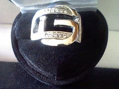 MENS WOMENS DESIGNER LINK BUCKLE BAND RING SZ 9 YOUR NAME HAVE A G OR 4 GOD! #SolitairewithAccents