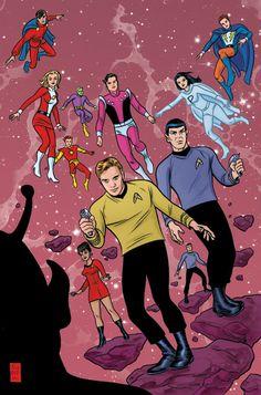 Star Trek crossover by Mike Allred