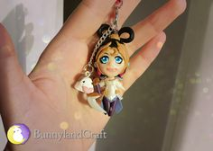 Diana Lunar Goddess inspired keychain by BunnyLandCraft ★ Follow me on FB: www.facebook.com/BunnylandCraft ★