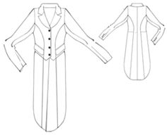 example - #5329 Tail-coat for women site has a lot of free patterns including vintage type