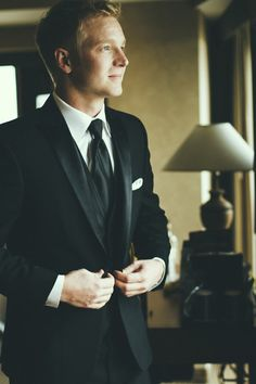 The groom getting ready before the first look - Mark Nagel Portraits: San Diego Wedding Photography