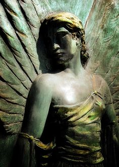 Angel Statue (Elle) by Tiquetonne2067, via Flickr  Pere Lachaise Cemetery, Paris