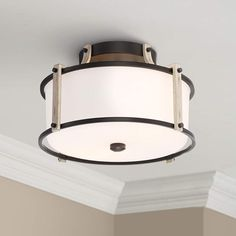 Square Led Ceiling Lights, Round Led Ceiling Light, Brass Ceiling Light, Flush Ceiling Lights, Modern Ceiling, Wood Ceilings, Wood Accents, Fabric Shades, Euro