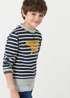 Sweater coton message -  Enfants | MANGO Kids France