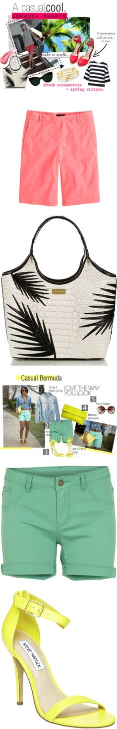 """""""Bermuda Shorts Are In, But Do You Know How to Wear 'Em?"""" by polyvore-editorial ❤ liked on Polyvore"""