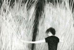 Magda Guidi, disegni neri // Magda Guidi is one of the most important contemporary italian animators // http://magdaguidi.tumblr.com/